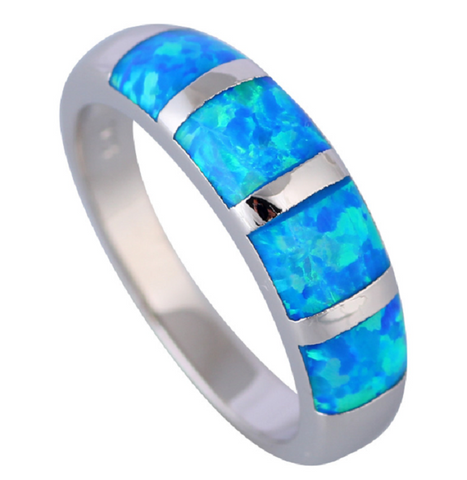 New 2017  Lab created Blue Fire Opal Sterling Silver, So Beautiful!! -  New Fashion Finds By Carole
