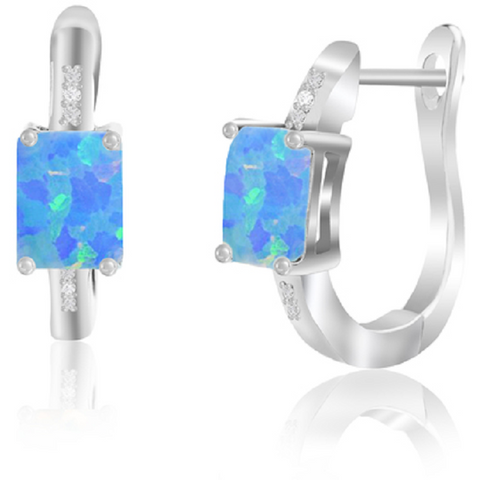 Crystal & Enamel Statement Earrings