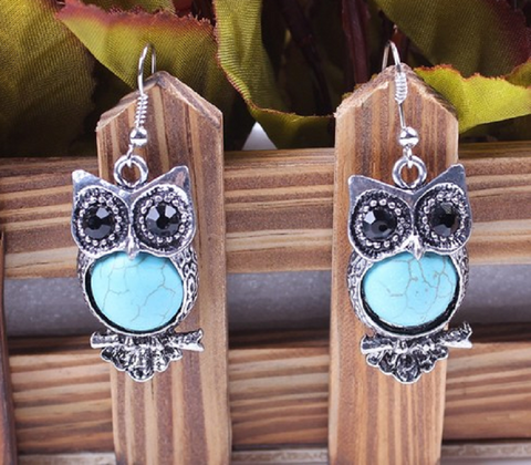 Crystal Titanic Blue Dangle Drop Earring