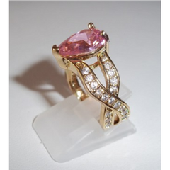 4 CT Pink with CZ's -  New Fashion Finds By Carole