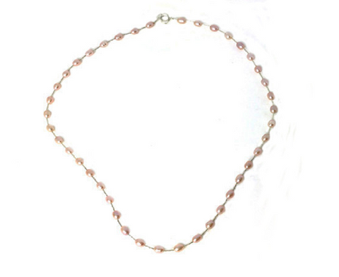 Genuine Pink Freshwater Pearl Necklace -  New Fashion Finds By Carole