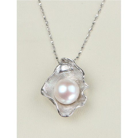 9-10mm AAA+ Shell Shaped Natural Freshwater Cultured Pearl  Necklace -  New Fashion Finds By Carole