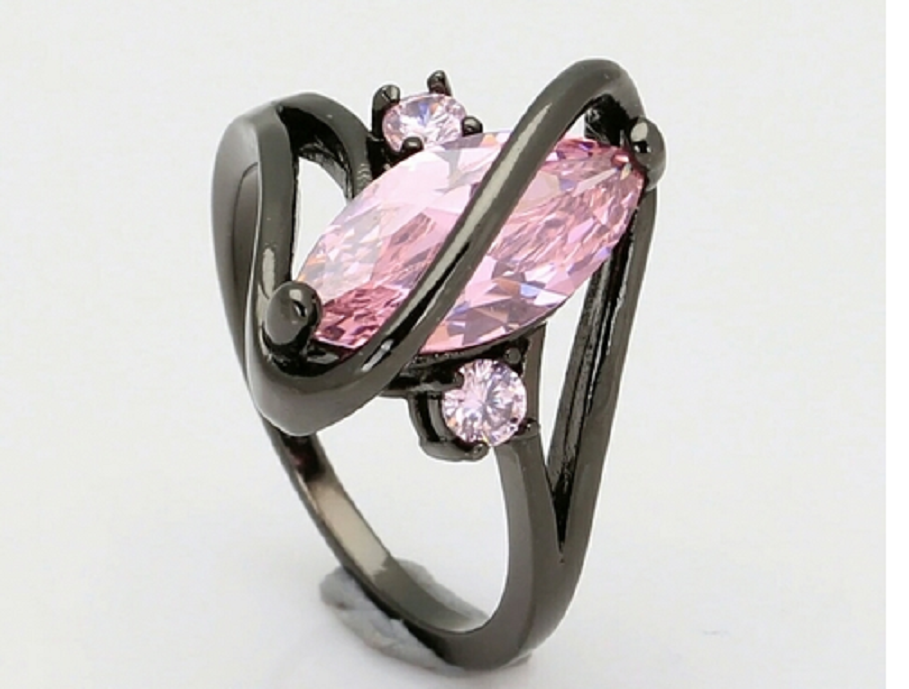 Black and Pink Swirl Ring -  New Fashion Finds By Carole