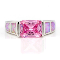925 Sterling Silver ring 1.86ctw Pink AAA Grade Italian CZ . -  New Fashion Finds By Carole
