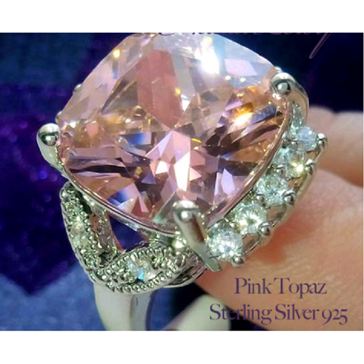 Amazing Promise 6ct Pink Topaz Sterling Silver 925 Ring -  New Fashion Finds By Carole
