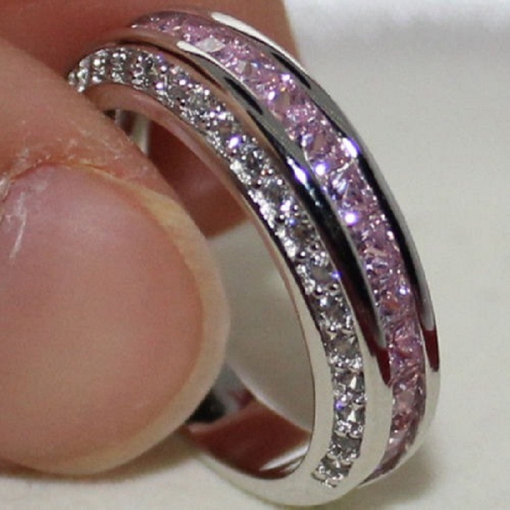 Petite Beautiful Pink Domonique CZ and Sterling Silver Ring -  New Fashion Finds By Carole
