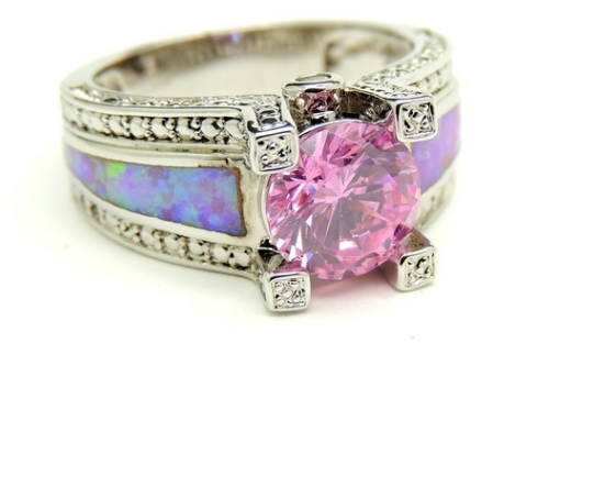 Joyau Brilliant pink Cz Round cut -  New Fashion Finds By Carole