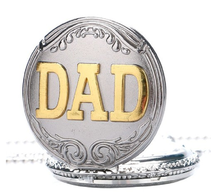 Silver Retro Big Face Dial Pocket Watch DAD Gift Long Chain Watch -  New Fashion Finds By Carole