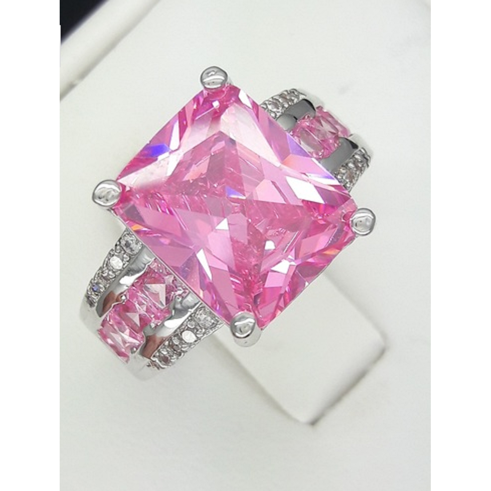 7 carat emerald cut pink AAA+cz – New Fashion Finds By Carole