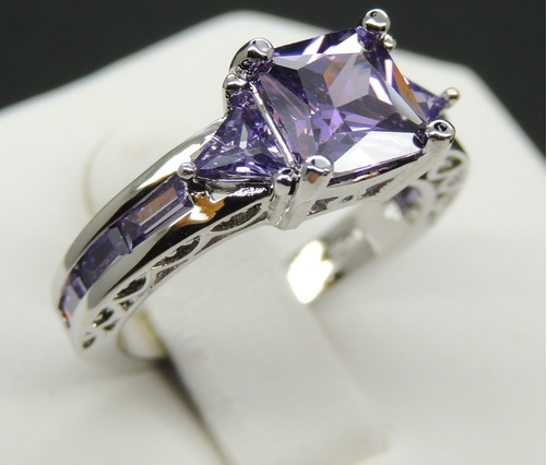 Royal Purple Zc princes cut ring -  New Fashion Finds By Carole