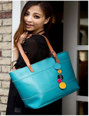 Fashion Teal Shoulder Bag. Purse  Faux Leather -  New Fashion Finds By Carole