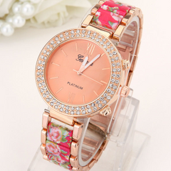 Big Top Crystal Flowered Watch With Rhinestones -  New Fashion Finds By Carole