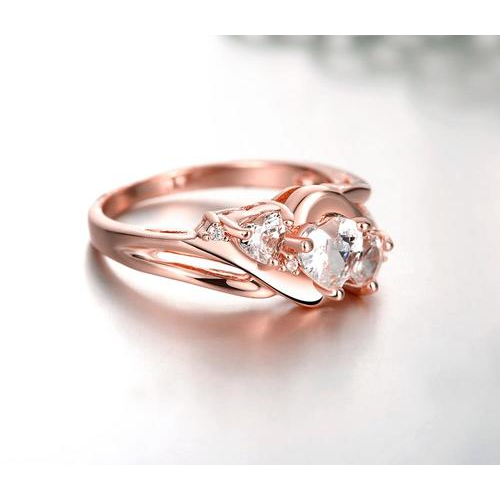 18K Rose Gold Plated CZ Ring -  New Fashion Finds By Carole
