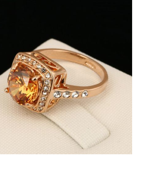 Round CZ Women's Jewelry Rose Gold Filled Ring -  New Fashion Finds By Carole