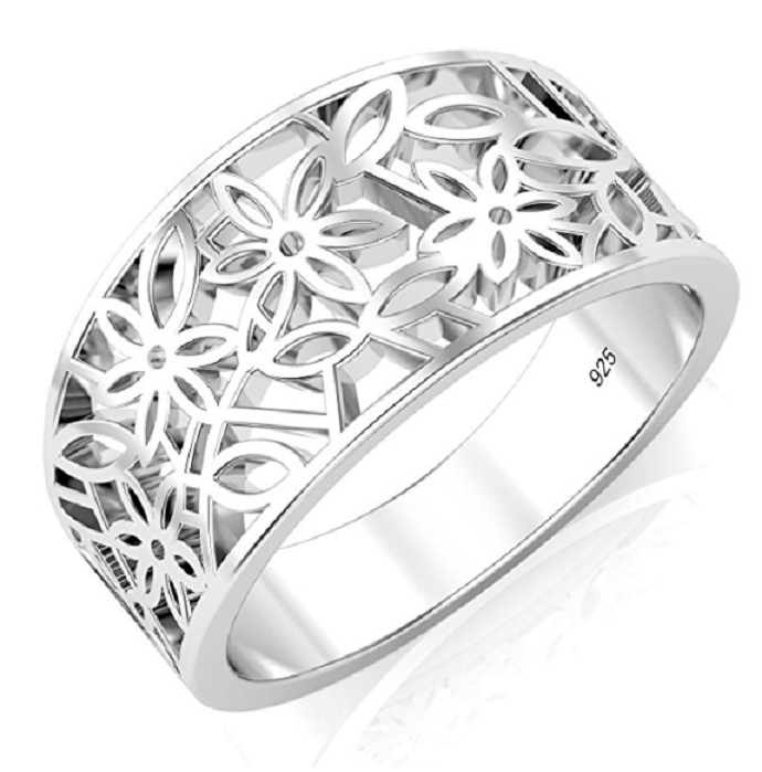 Sterling Silver 925 Victorian leaf Filigree Ring -  New Fashion Finds By Carole