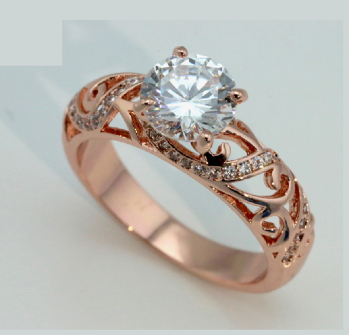 Gorgeous 18K Rose Gold Plated Cubic Zirconia -  New Fashion Finds By Carole