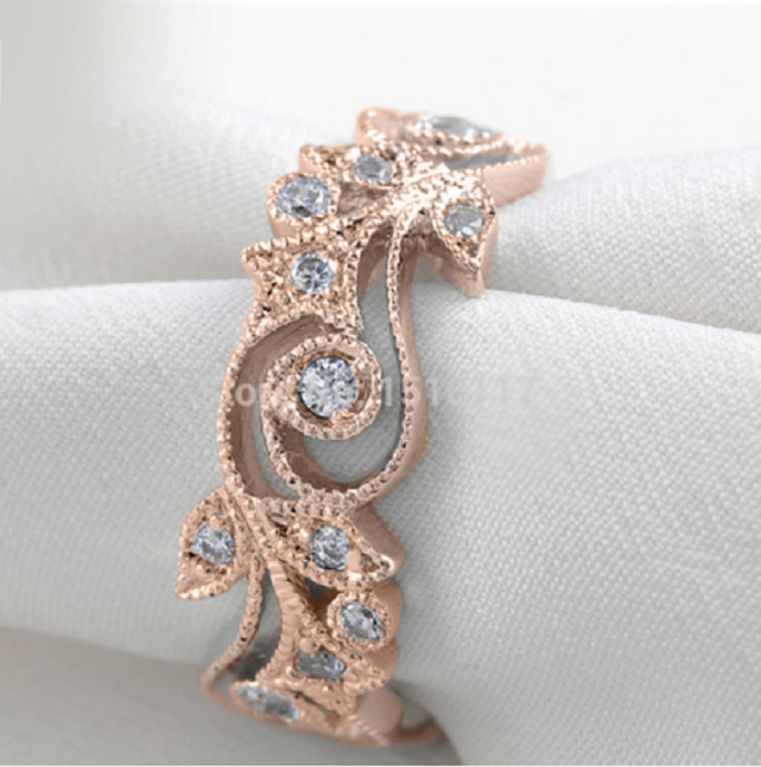 Gorgeous Rose Gold Plated Flower ring -  New Fashion Finds By Carole