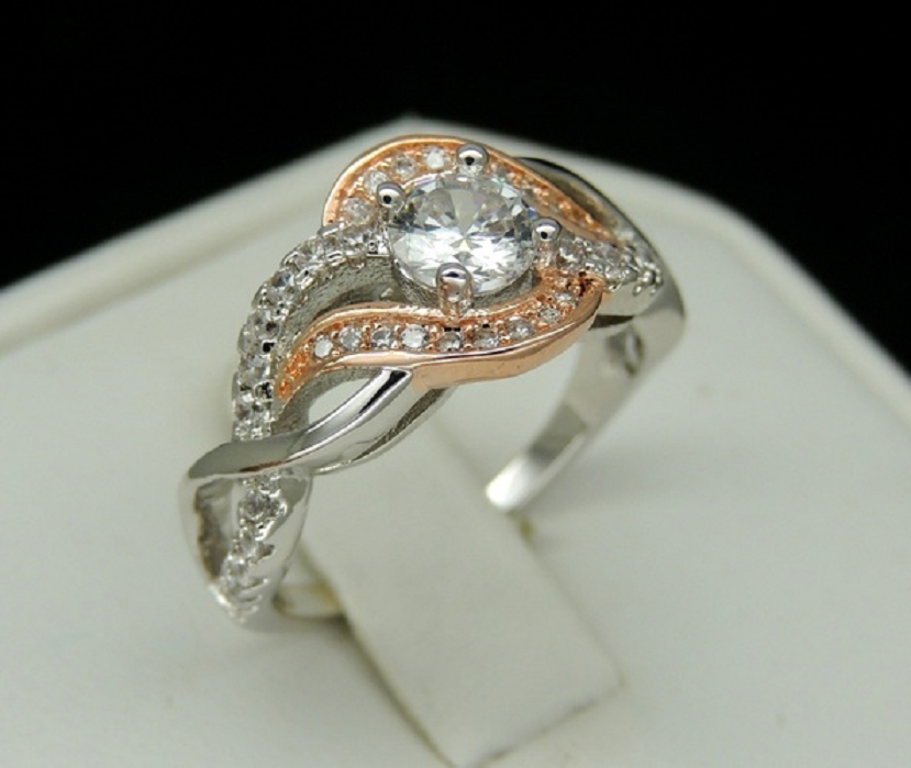 Special Design Twisted Rose white Gold Filled Ring -  New Fashion Finds By Carole