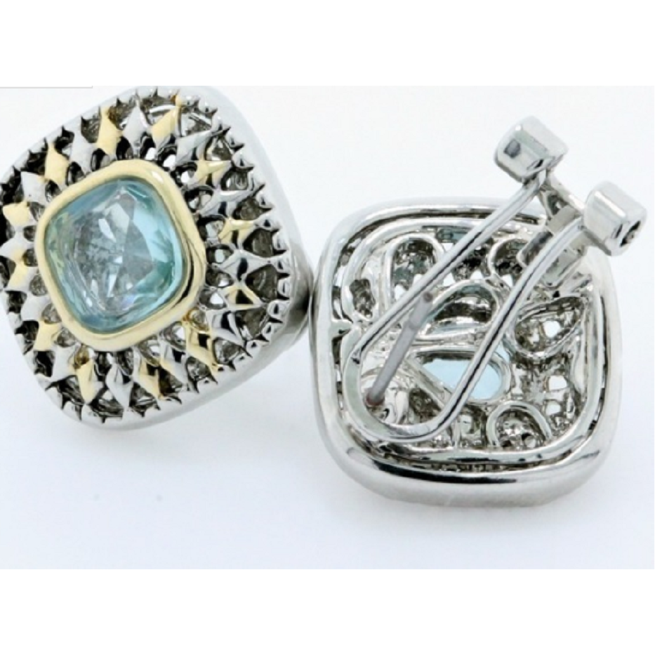 18k Gold High Polish Layered Lead Free High End Jewelry , Blue Topaz -  New Fashion Finds By Carole