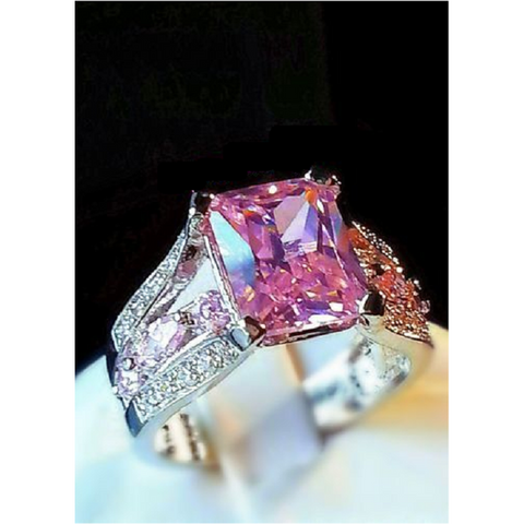 Beautiful 4 Carat CZ Pretty In Pink -  New Fashion Finds By Carole
