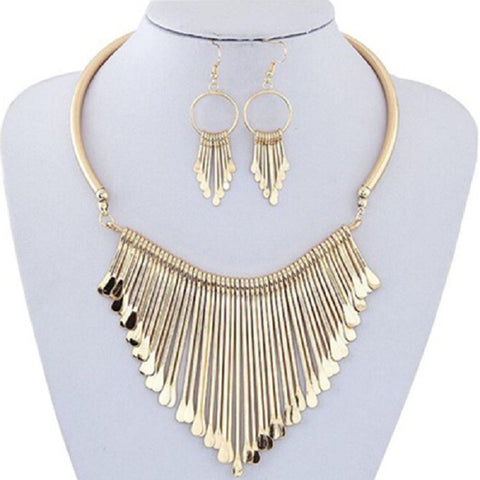 Geometric 4 Piece Jewelry Set