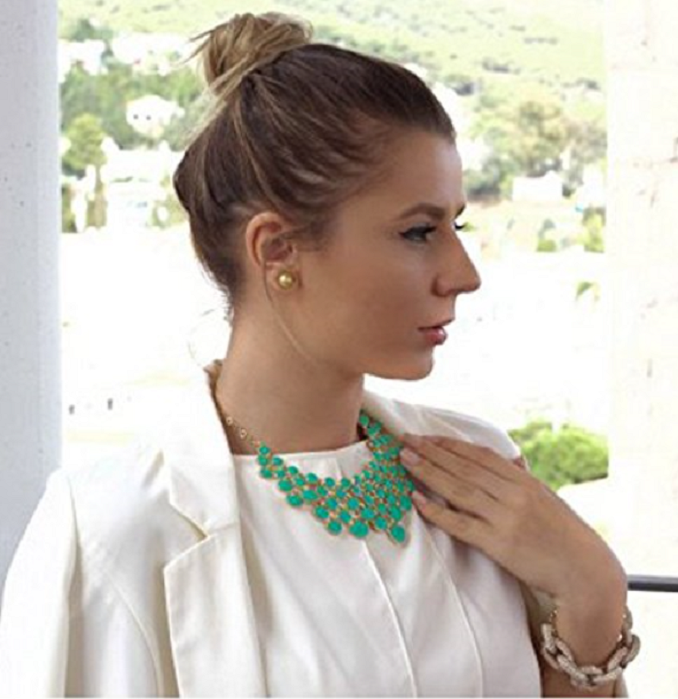 Jade Enamel Statement Necklace -  New Fashion Finds By Carole