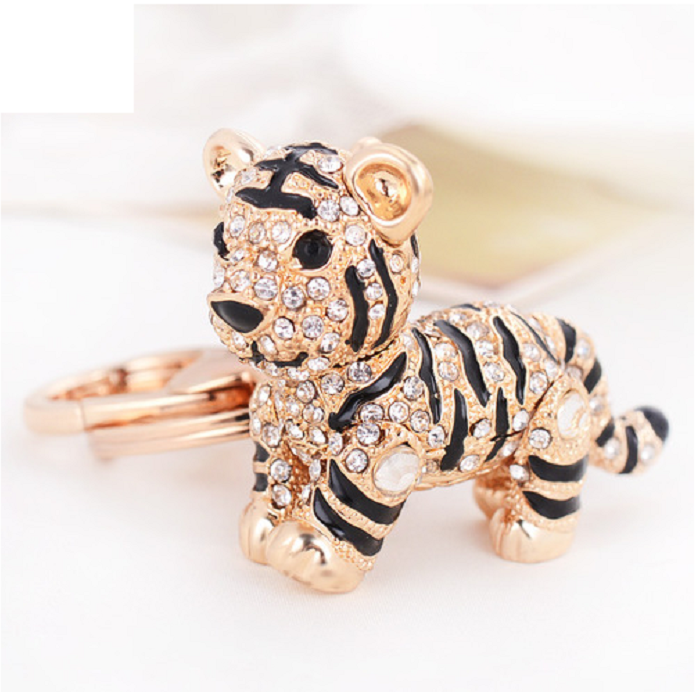 3D Full stone tiger key ring key oranment -  New Fashion Finds By Carole