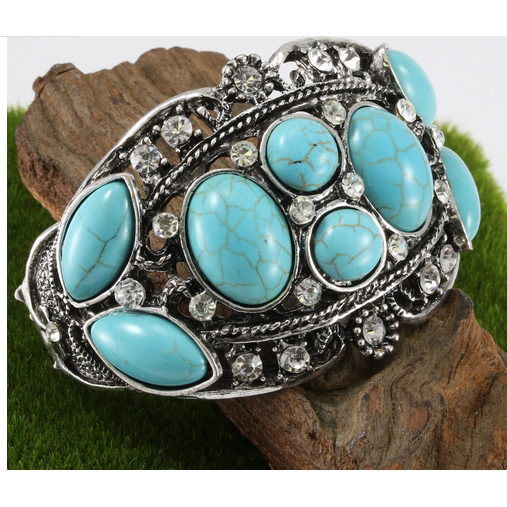 54.4 grams Turquoise Bangle Bracelet -  New Fashion Finds By Carole