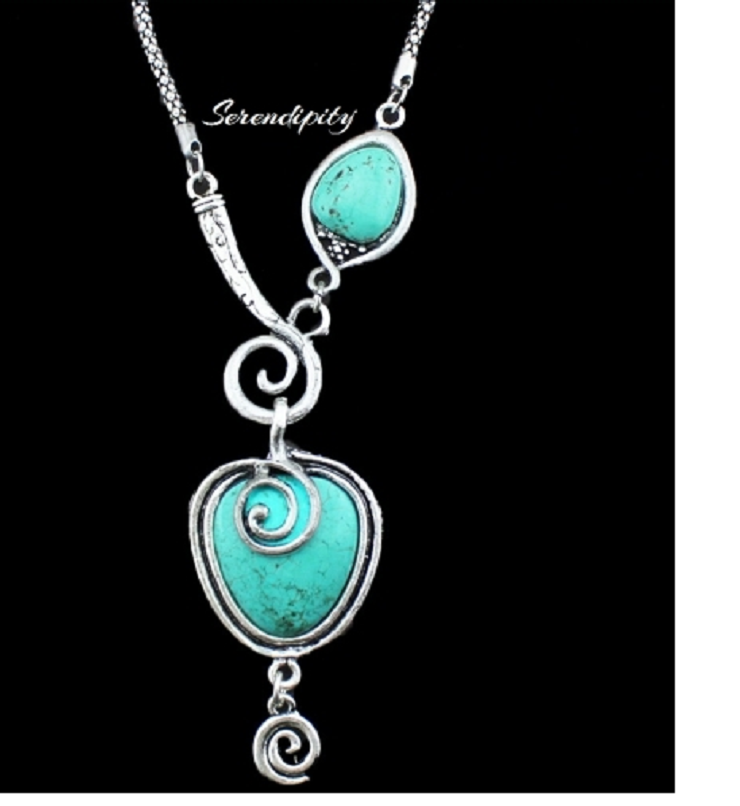 Turquoise Necklace -  New Fashion Finds By Carole