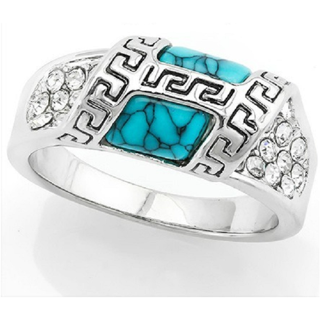 2.5ct Turquoise & White Italian CZ (AAA Grade) -  New Fashion Finds By Carole