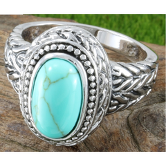 8.75ct Turquoise, Lead Free Hypoallergenic & Tarnish Free Turquoise Ring -  New Fashion Finds By Carole