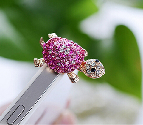Lovely Turtle Anti Dust Plug Earphone 3.5mm Ear Jack for iPhone Samsung Galaxy -  New Fashion Finds By Carole