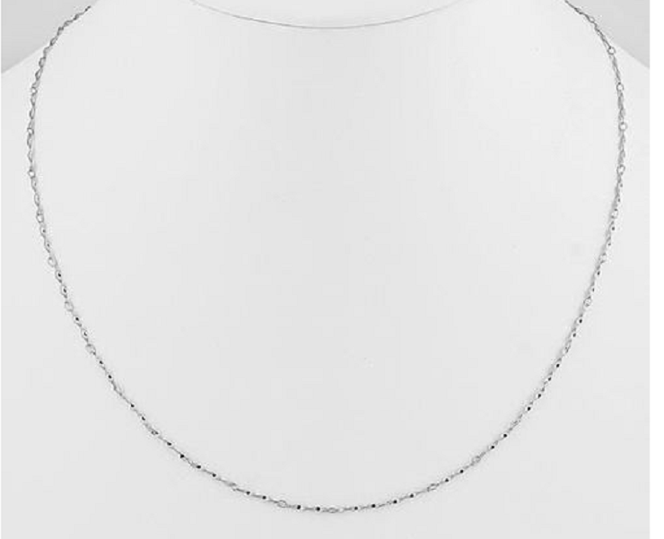 Solid 925 Sterling Silver Twisted Singapore Chain -22 Inches -  New Fashion Finds By Carole