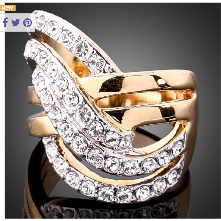 18 Karat Gold Ring Featuring Sparkling Cubic Zirconia -  New Fashion Finds By Carole