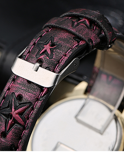 Very cool watch with slight purplish tone and stars embossed all over the watch band. -  New Fashion Finds By Carole