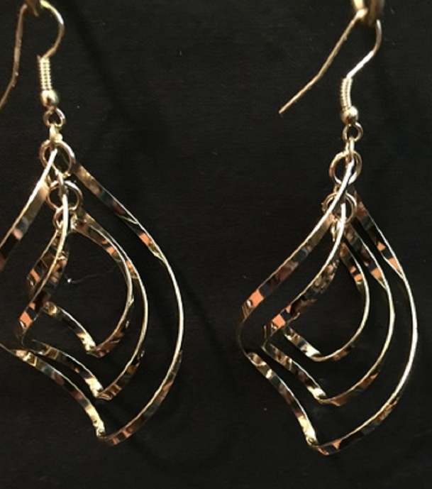 Twist Wave Gold Plated Earrings -  New Fashion Finds By Carole