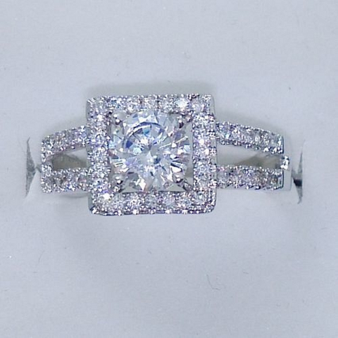 Stunning White CZ Engagement Ring