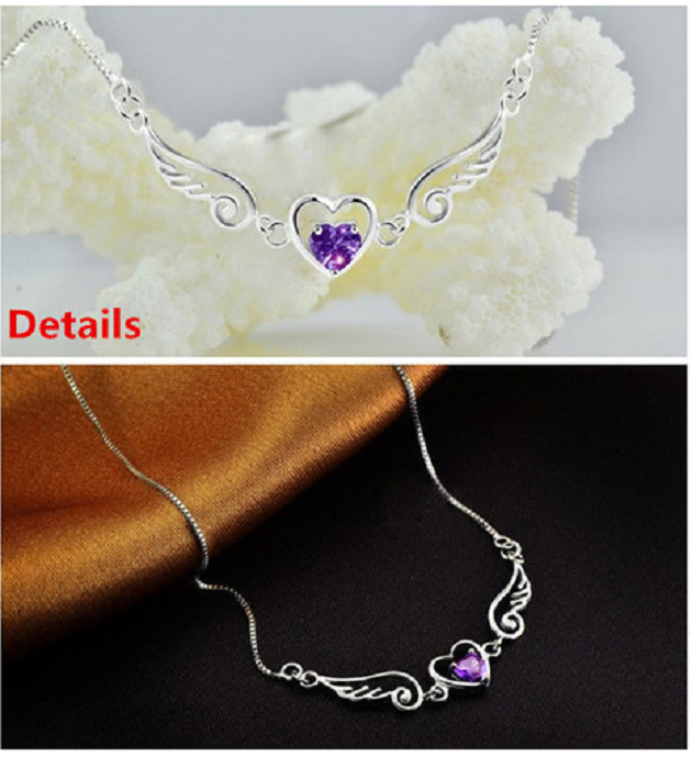 Genuine Pure 925 Sterling Silver Solid Angel Of Love Necklace -  New Fashion Finds By Carole