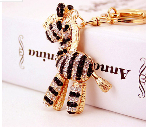 cute crystal zebra keychain -  New Fashion Finds By Carole