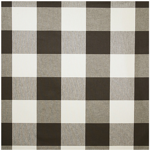 Oversized Check By The Yard in Charcoal