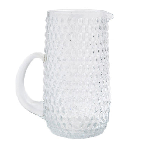 Glass Hobnail Pitcher