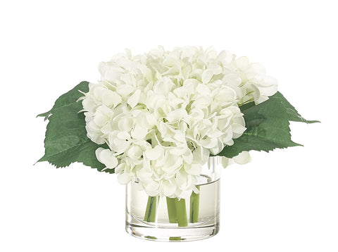 Faux White Hydrangea Arrangement
