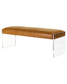 Afton Leather Bench