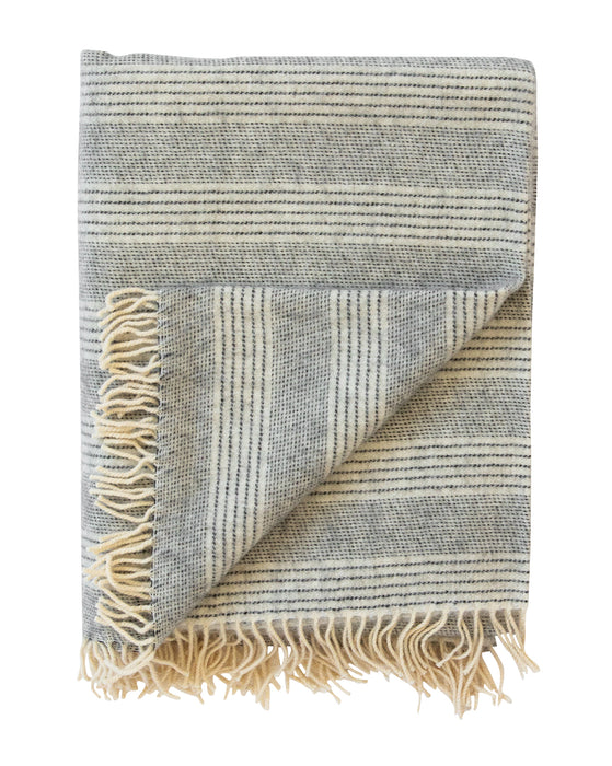 Alpaca Fog Stripe Throw
