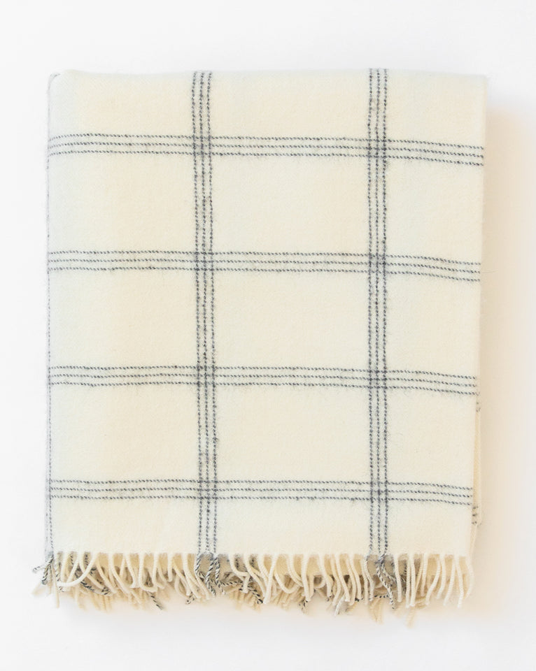 Alpaca Windowpane Throw