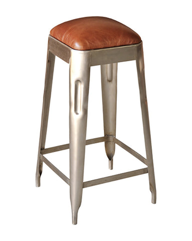 Alrik Leather Counter Stool