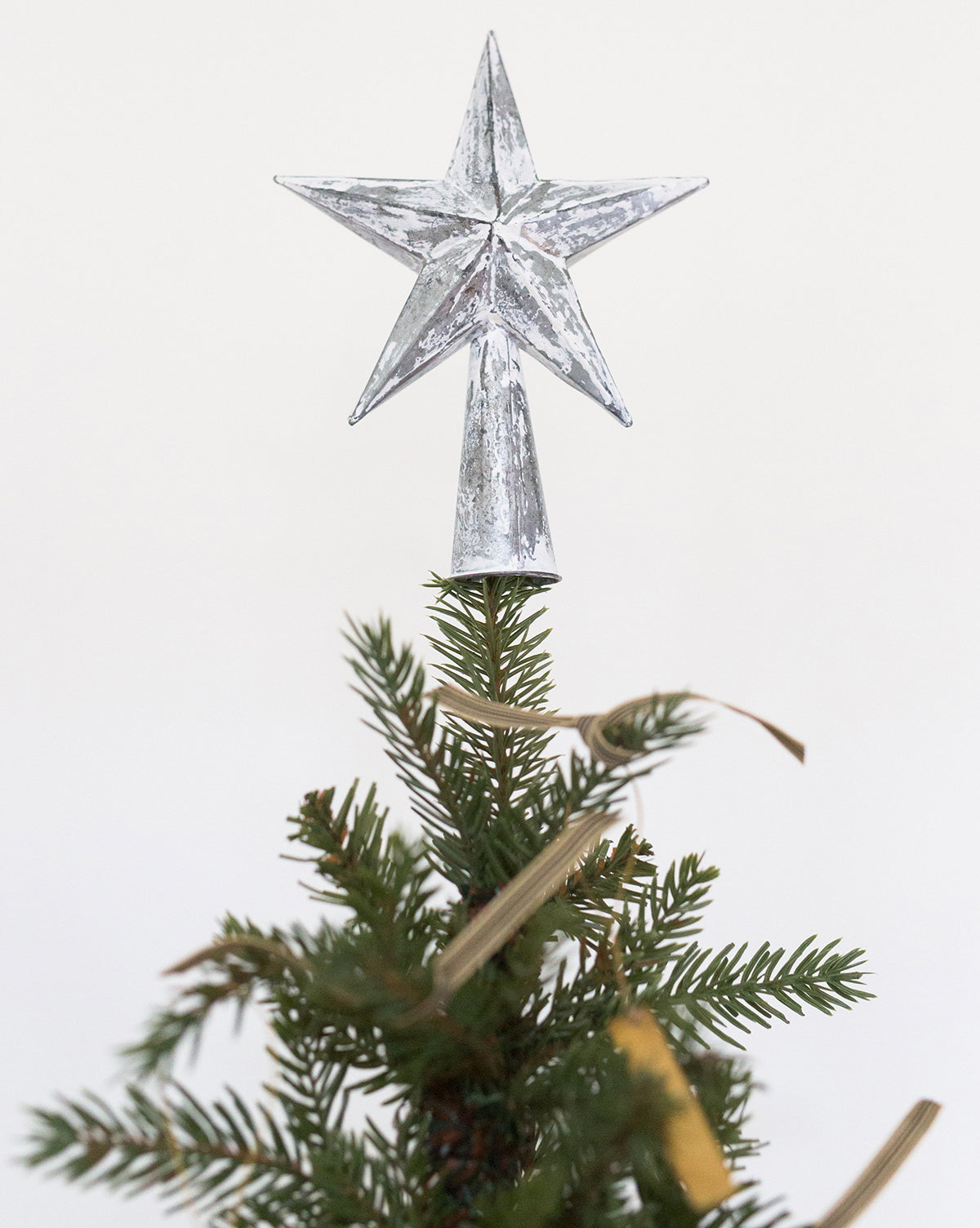 Antique White Star Tree Topper