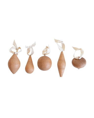Beechwood Ornaments (Set of 5)
