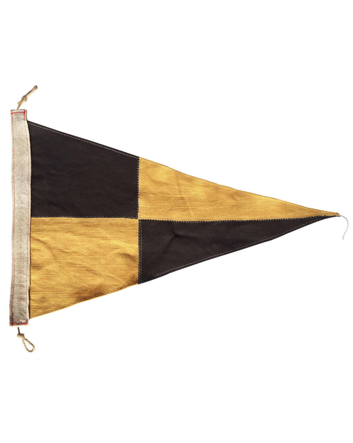 Black & Gold Check Pennant