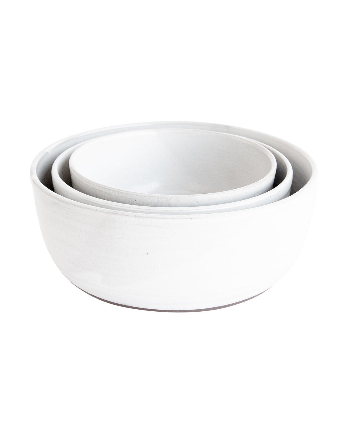 White & Espresso Serving Bowls